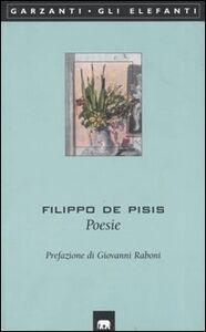 Libro Poesie Filippo De Pisis