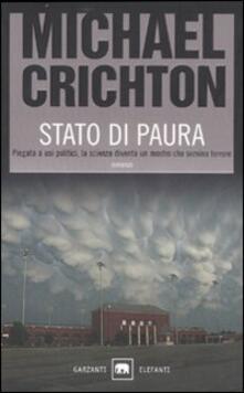 Stato di paura - Michael Crichton - copertina