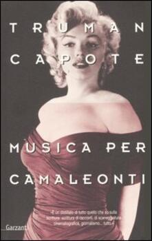 Musica per camaleonti - Truman Capote - copertina
