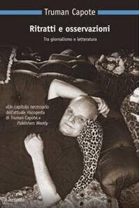 Libro Ritratti e osservazioni Truman Capote