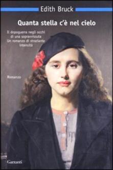 Quanta stella c'è nel cielo - Edith Bruck - copertina