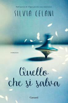 Quello che si salva - Silvia Celani - copertina