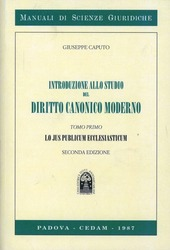 Introduzione allo studio del diritto canonico moderno. Vol. 1: Lo jus publicum ecclesiasticum.