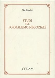 Studi sul formalismo negoziale