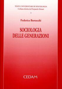 Libro Sociologia delle generazioni Federica Bertocchi