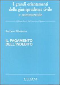 Libro Il pagamento dell'indebito Antonio Albanese