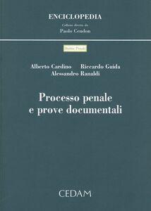 Foto Cover di Processo penale e prove documentali, Libro di AA.VV edito da CEDAM