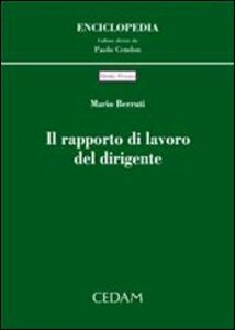 Libro Il rapporto di lavoro del dirigente Mario Berruti
