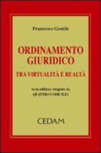 Ordinamento giuridico tra virtualità e realtà - Francesco Gentile - copertina