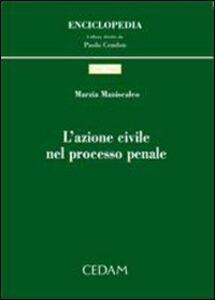 Libro L' azione civile nel processo penale Marzia Maniscalco
