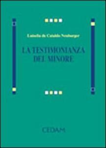 La testimonianza del minore - Luisella De Cataldo Neuburger - copertina