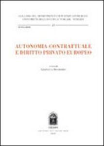 Libro Autonomia contrattuale e diritto privato europeo