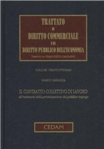 Libro Trattato di diritto commerciale e di diritto pubblico dell'economia. Vol. 38: Il contratto collettivo di lavoro all'indomani della privatizzazione del pubblico impiego. Marco Marazza