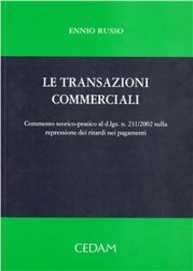 Le transazioni commerciali - Ennio Russo - copertina