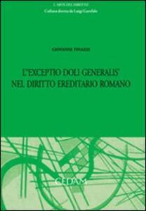 L' exceptio doli generalis nel diritto ereditario romano