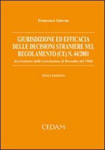 Giurisdizione ed efficacia delle decisioni straniere nel regolamento (CE) n. 44/2001 (la revisione della convenzione di Bruxelles del 1968)