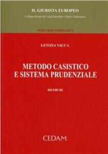 Libro Metodo casistico e sistema prudenziale Letizia Vacca