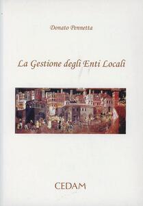 La gestione degli enti locali - Donato Pennetta - copertina