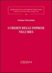 Libro I crediti delle imprese nell'Ires Stefano Fiorentino