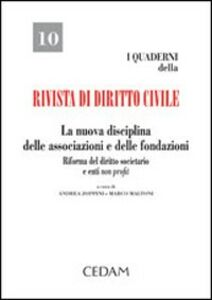 Libro La nuova disciplina delle associazioni e delle fondazioni. Riforma del diritto societario e enti non profit