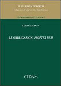 Libro Le obbligazioni propter rem Lorena Manna