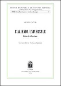 Foto Cover di L' azienda universale. Piste di riflessione, Libro di Giuseppe Catturi, edito da CEDAM