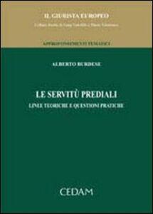 Libro Le servitù prediali Alberto Burdese