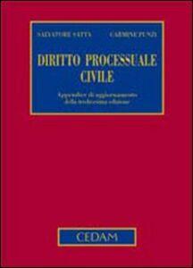 Libro Diritto processuale civile. Appendice di aggiornamento Salvatore Satta , Carmine Punzi