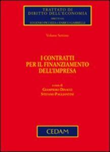 Foto Cover di I contratti per il finanziamento dell'impresa, Libro di  edito da CEDAM