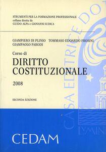Foto Cover di Corso di diritto costituzionale, Libro di  edito da CEDAM