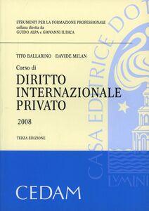 Foto Cover di Corso di diritto internazionale privato, Libro di  edito da CEDAM