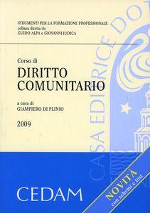 Foto Cover di Corso di diritto comunitario, Libro di  edito da CEDAM
