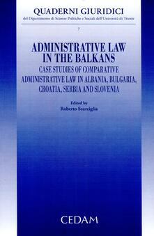 Nicocaradonna.it Administrative law in the Balkans. Case studies of comparative administrative law in Albania, Bulgaria, Croatia, Serbia and Slovenia Image