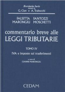 Osteriacasadimare.it Commentario breve alle leggi tributarie. Vol. 4: IVA e imposte sui trasferimenti. Image