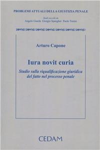 Libro Iuris novit curia. Studio sulla riqualificazione giuridica del fatto nel processo penale Arturo Capone