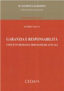 Foto Cover di Garanzia e responsabilità, Libro di Letizia Vacca, edito da CEDAM