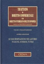 Trattato di diritto commerciale e di diritto pubblico dell'economia. Vol. 56: Le discriminazioni nel lavoro. Nozione, interessi, tutele.