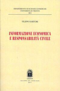 Libro Informazione economica e responsabilità civile Filippo Sartori