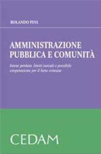 Amministrazione pubblica e comunità. Intese perdute, limiti varcati e possibile cooperazione per il bene comune