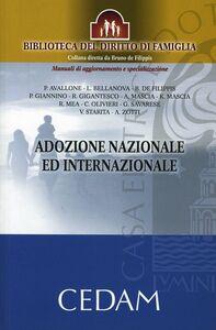 Foto Cover di Adozione nazionale ed internazionale, Libro di  edito da CEDAM