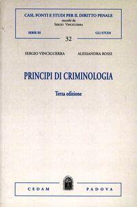 Principi di crimonologia
