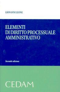 Elementi di diritto processuale amministrativo