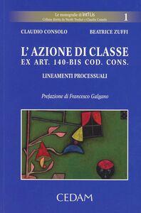 L' azione di classe ex art. 140 bis codice del consumo