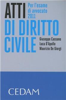 Premioquesti.it Atti di diritto civile. Per l'esame di avvocato 2011 Image