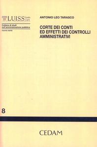 Libro Corte dei conti ed effetti dei controlli amministrativi Antonio L. Tarasco