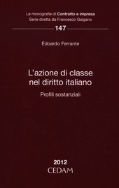L' azione di classe nel diritto italiano. Profili sostanziale