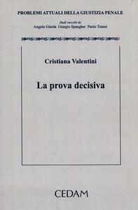 La prova decisiva - Cristiana Valentini - copertina