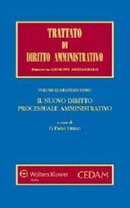 Libro Il nuovo diritto processuale amministrativo
