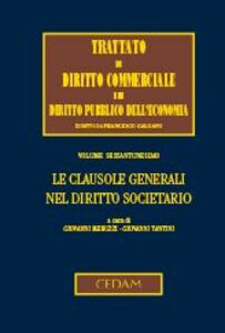 Foto Cover di Le clausole generali nel diritto societario, Libro di  edito da CEDAM