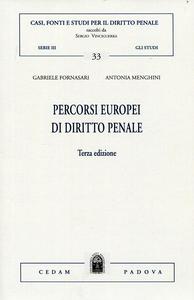 Libro Percorsi europei di diritto penale Gabriele Fornasari , Antonia Menghini
